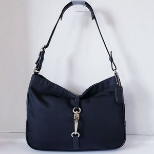 COACH 7443 Mercer Clip Black Hobo Handbag